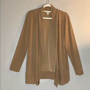 BNWOT- Dressy camel colored cardigan with POCKETS!
